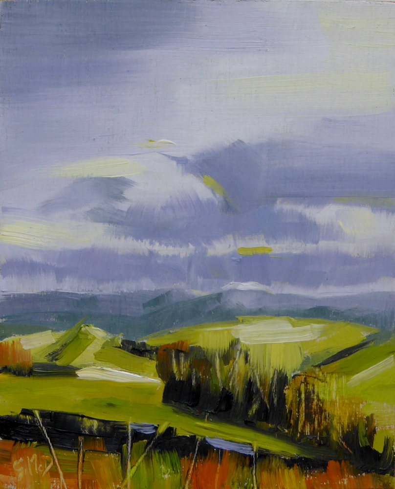 Storm Clearing - landscape painting